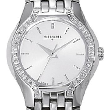 Wittnauer Laureate Collection Women's SS Diamond Bracelet Watch 10R23