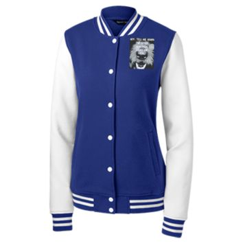 Women's Fleece Letterman Jacket