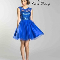 Kari Chang YA1451 Sheer Shoulder Cocktail Homecoming Dress