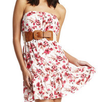 Crochet-Belt Floral Dress
