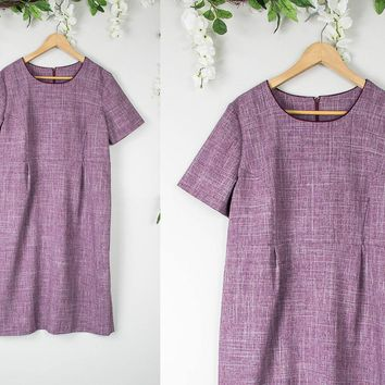 Vintage Purple Shift Dress