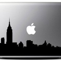 New York Skyline - Black (13 inch) Macbook Decal - Laptop Decal
