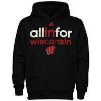 Wisconsin Badgers adidas Ultimate All In For Hoodie – Black