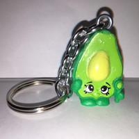 Shopkins Foodie Keychain - Dippy Avocado - repurposed toys