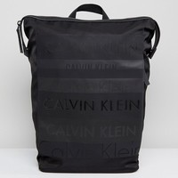 Calvin Klein Multi Logo Large Backpack at asos.com