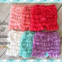 Six Colors - Petti Lace Shorts - Baby Shorts - Girls Shorts - Petti Shorts - Ruffle Shorts - Chiffon Shorts - Shorts - Bloomers - Shorties