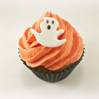 24 Halloween Ghost Fondant Toppers, Halloween Cake / Cupcake / Cookie Topper, Halloween Party Decoration,Ghost Edible Topper,Spooky Party