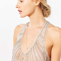 Kimchi Blue Alexis Beaded Mesh Tank Top - Urban Outfitters