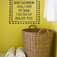 Laundry Room Vinyl Lettering by JustTheFrosting on Etsy