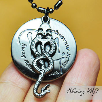 Harry potter NecklaceDumbledore's Army and Snake by Shininggift