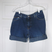 Vintage 80s Calvin Klein Shorts, Cut Off Denim Shorts, Womens Size 9 Jean Shorts, Denim Cutoffs Hipster Grunge Mid Rise Denim GS81
