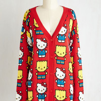 Kawaii Long Long Sleeve State of the Bart Cardigan by ModCloth
