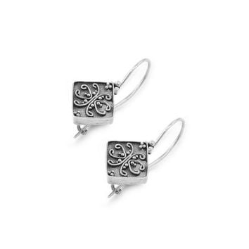 Sterling Silver Vintage Filigree Dangle Earrings