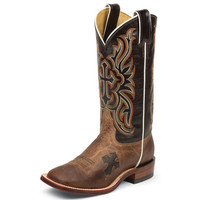 Women's Tony Lama Tan Mad Dog Goat 12in Top Cowgirl Boots