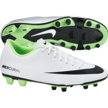 Nike Men's Mercurial Vortex FG Soccer Cleat - White/Green | DICK'S Sporting Goods