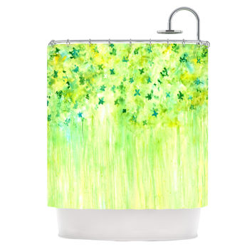 "Rosie Brown ""April Showers"" Lime Green Shower Curtain"
