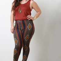 Tribal Knit Leggings