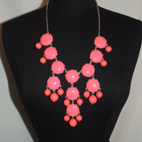 Coral Bubble Necklace from Monica's Closet Essentials