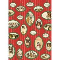 Christmas Dogs 2016 Wrap by Cavallini