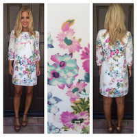 Peony Garden Shift Dress