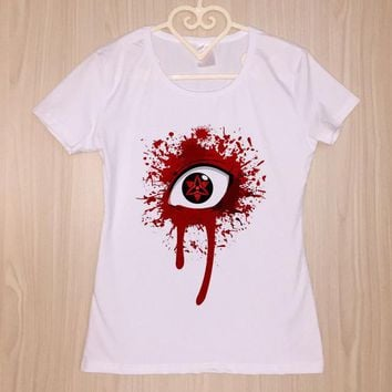 Tops and Tees T-Shirt Original PSTYLE 2018 Summer T-shirt Women Short Sleeve T shirt Sharingan Naruto  Girls Top Tee Female  for Girls AT_60_4 AT_60_4