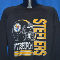 80s Pittsburgh Steelers Helmet Sweatshirt Large