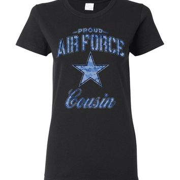 Proud Air Force Cousin Women's T-Shirt (Camo)