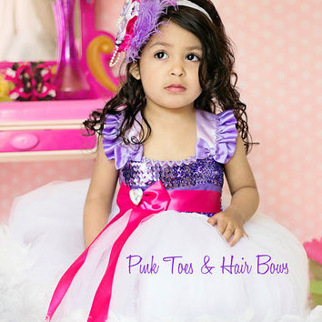 Daisy Duck Tutu dress- Daisy Duck tulle dress- Daisy Duck dress- Daisy Duck costume