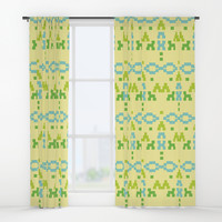 simple tribal pattern Window Curtains by Berwies