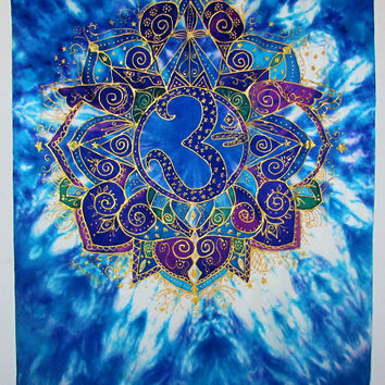 "mandala art, ""Speaking from the Wisdom Within"" Ohm art, meditation art, spiritual art, metaphysical art, visionary art, new age"