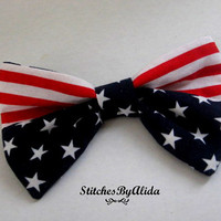 Pet Accessories, Dog BowTie, American Wear for Pups, Pet Neckwear, Puppy Bow Tie, Patriotic Dog Collar Bows, Puppy Bow Ties, Hair Bow