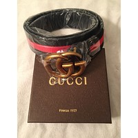 Gucci Belt Black and Red