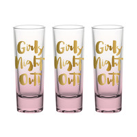 "SLANT COLLECTIONS ""GIRLS NIGHT OUT"" 2OZ SHOT GLASS S/3"