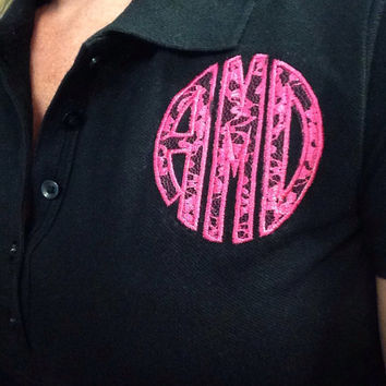 Monogrammed/Applique Lace Polo