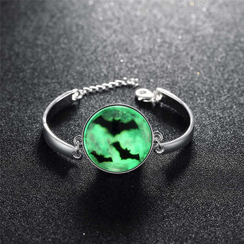 Gift Stylish Hot Sale Great Deal New Arrival Shiny Awesome Accessory Skull Terrible Noctilucent Bracelet [8065789057]