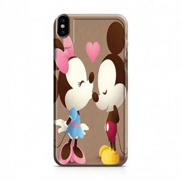 Mickey And Minnie kiss sepia iPhone X case