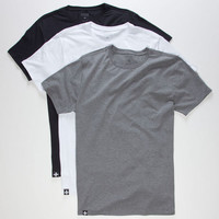 Tavik 3 Pack Mens T-Shirts Multi  In Sizes