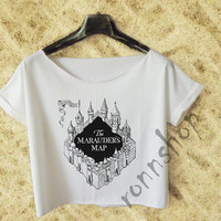 The Marauder's Map Crop Tee Shirt  Women TO65