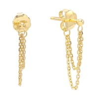 Claire Chain Stud Earring 14K