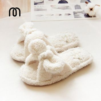 Millffy fluffy fluff summer home slippers indoor home plush slippers cute female floor