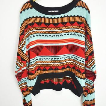 funshop — Colorful totem sweater