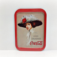 VIntage CocaCola Tray 1909 Girl Coke by vintage19something on Etsy
