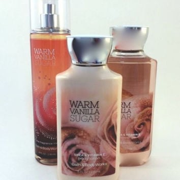 New Bath & Body Works Gift Set Warm Vanilla Sugar With Gift Bag And Ribbon!