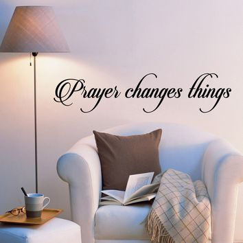 Vinyl Wall Decal Stickers Motivation Religion Quote Words Prayer Changes Things Inspiring Letters 2034ig (22.5 in x 5 in)