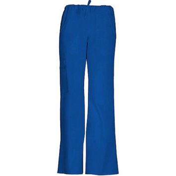 ScrubStar Women's Drawstring Cargo Scrub Pants, Medium, Electric Blue, 90005