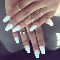 Coffin nails, press on nails, false nails, pink nails, white nails, nude nails, blue nails, nails, press on nails, hand painted nails,
