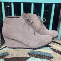 Saharan Wedge Booties in Taupe