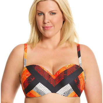 Geo Animal Balconette bikini Top | Lane Bryant
