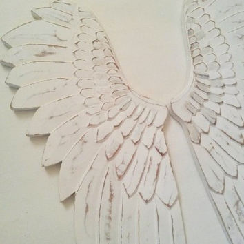 Angel wings, wall decor, wall hanging, large angel wings, angel wings ornament, large white wings, white angel wings, French Nordic style,