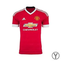 Adidas Youth Climacool Manchester United Home Replica Soccer Jersey